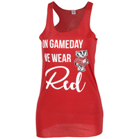 Image For ZooZatz On Gameday We Wear Red Women's Tank (Red)