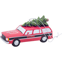 Image For Forever Collectibles WI Station Wagon Christmas Ornament