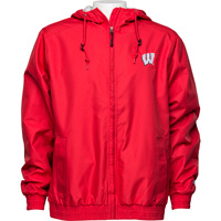Image For Champion Wisconsin Full Zip Lined Jacket (Red)