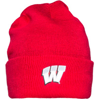 Image For Logofit Fleece Lined Knit Cuff Hat (Red)