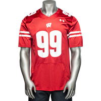 Image For Under Armour WI Replica JJ Watt Football Jersey #99 (Red)