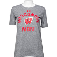 Image For Under Armour Wisconsin Mom T-Shirt (Grey)