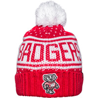 Image For '47 Brand Women's Badgers Dot Hat (Red/White)