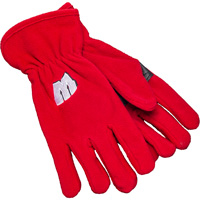 Image For '47 Brand Wisconsin Fleece Gloves (Red)