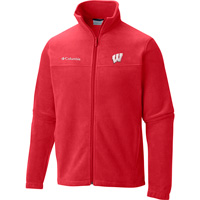 Image For Columbia WI Badgers Flanker II Fleece Jacket (Red)*