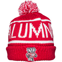 Image For '47 Brand Wisconsin Alumni Knit Hat (Red/White)