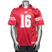 Cover Image For Under Armour Russell Wilson Jersey (Red) 3X