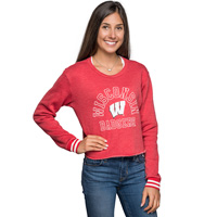 Image For Blue 84 Wisconsin Badger Crop Sweatshirt (Red) *