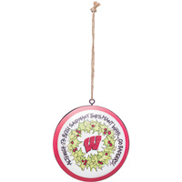 Cover Image For Magnolia Lane Wisconsin Metal Ornament