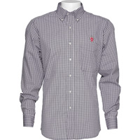 Image For Antigua Wisconsin Plaid Button Down Shirt (Black/White)
