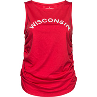 Image For League Women's Wisconsin Unwind Tank Top (Red)*
