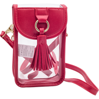 Image For Capri Designs Clear Phone Purse (Red)