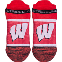 Image For Strideline Wisconsin Motion W No-Show Sock (Red)