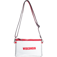 Image For Neil Enterprises, Inc. Wisconsin Clear Cross Body Bag (Red)