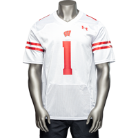 Image For Under Armour Wisconsin Football Jersey #1 (White)