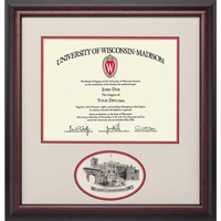Cover Image For Alumni Artwork UW Oval Diploma Frame