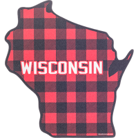 Image For Blue 84 Plaid Wisconsin State Decal