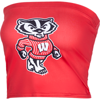 Image For ZooZatz Women's Bucky Badger Tube Top (Red)
