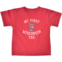 Image For College Kids Infant My First Wisconsin Tee (Red)