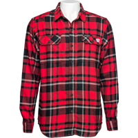 Image For Columbia Wisconsin Flannel Shirt (Red/Black)
