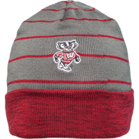 Image For Under Armour Wisconsin Reversible Beanie (Red/Gray)