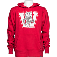 Image For '47 Brand Vault Bucky Badger Hooded Sweatshirt (Red)