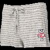 Image for Boxercraft Women's Bucky Badger Knit Shorts (Gray/White)