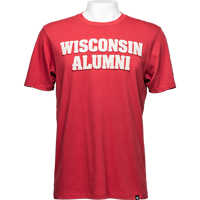 Image For '47 Brand Wisconsin Alumni T-Shirt (Red)