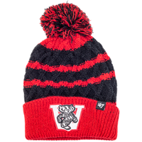 Image For '47 Brand Youth Wisconsin Knit Hat (Black/Red)