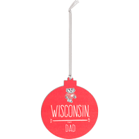 Cover Image For Legacy Wisconsin Dad Ornament (Red)