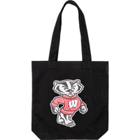 Image For Carolina Sewn Cotton Canvas Bucky Tote (Black)