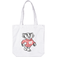 Image For Carolina Sewn Cotton Canvas Bucky Tote (White)