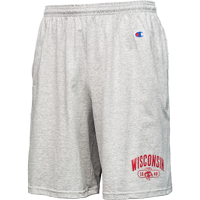 Cover Image For Champion Wisconsin 1848 Cotton Shorts (Gray)