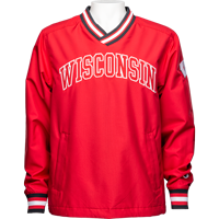 Image For Champion Wisconsin Pullover Windshirt (Red) *