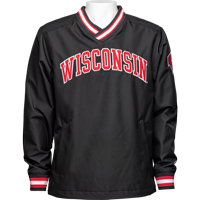 Image For Champion Wisconsin Pullover Windshirt (Black) *