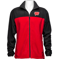 Image For Columbia Wisconsin Flanker Fleece Jacket (Red/Black)