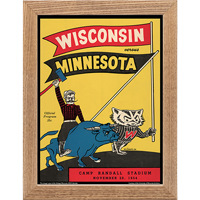 Image For Asgard Press Framed Wisconsin Print (11-20-1954)