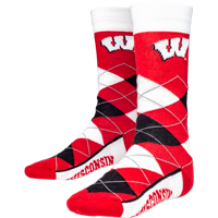Cover Image For For Bare Feet Wisconsin Argyle Socks (Red/White/Black)