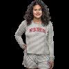 Cover Image for Boxercraft Women's Bucky Badger Knit Shorts (Gray/White)