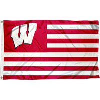 Image For Sewing Concepts Wisconsin Striped Flag (Red/White)