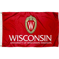 Image For Sewing Concept Wisconsin Shield W Flag (Red)