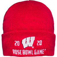 Image For 2020 Rose Bowl Game Top Promotions Knit Beanie (Red)