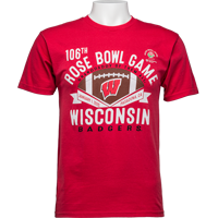 Image For 2020 Rose Bowl Game Blue 84 Wisconsin T-Shirt (Red) 3X *