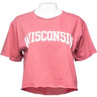 Image For Blue 84 Women's Wisconsin Crop T-Shirt (Red)