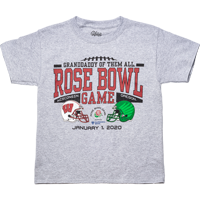 Image For 2020 Rose Bowl Game Blue 84 Big Rumble Youth T-Shirt (Gray)*