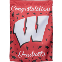 Image For Sewing Concepts Wisconsin Graduate Garden Flag
