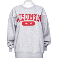 Image For Blue 84 Wisconsin Mom Sweatshirt (Gray)