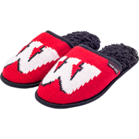 Image For Muk Luk Wisconsin Badgers Women's Slide Slippers