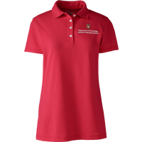Image For Lands' End Outfitters WI Psychology Women's Polo (Red)