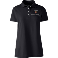 Image For Lands' End Outfitters WI Pharmacy Alumni Women's Polo (Blk)